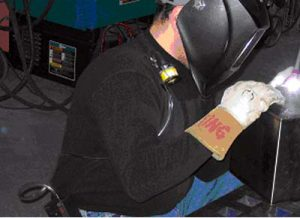 Welding Exposure monitoring for hexavalent chromium during welding.